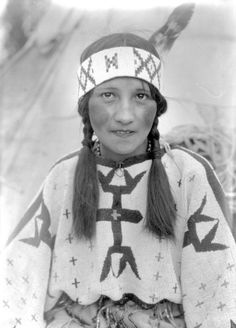 mudwerks:    Blue Bird, Nakoda girlNear Banff, Alberta. From the Paul Coze fonds, PR2006.0508/8.