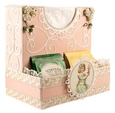 Tea and Napkin Holder - by Tara Brown for Pazzles Craft Room
