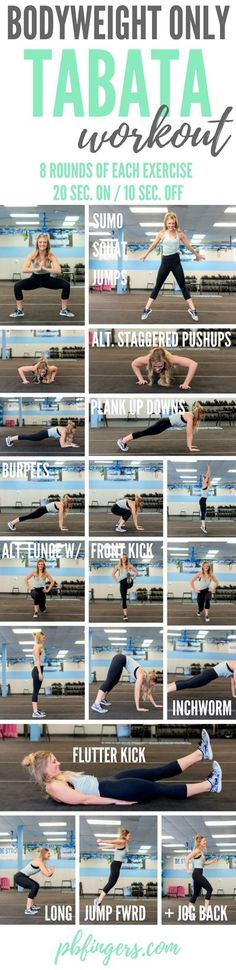 Killer Bodyweight Tabata Workout!