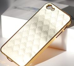 Gold Quilted iPhone Case - Tufted iPhone Case - Gold quilted case for iPhone 5 and 5s