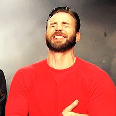 Chris Evans   The most endearing laugh ever  <3<3<3 -B.R.