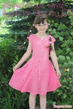 Девушки, всем добрый день! Добро пожаловать всем в компанию по вязанию вот такого платьица Здесь я его показывала http://www.stranamam.ru/