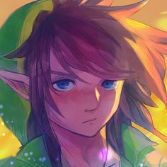 Awesome fanart of Link. His hair is so poofy. :3