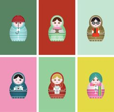 Matryoshka iPhone Wallpapers from Studiobenben.