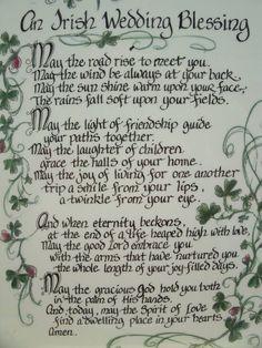 An Irish Wedding Blessing... #irishwedding #irishblessing #weddingreading #weddingceremony #weddinginspiration