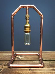 Copper Pipe Retro Industrial Style Table Lamp by Punkmetalltd