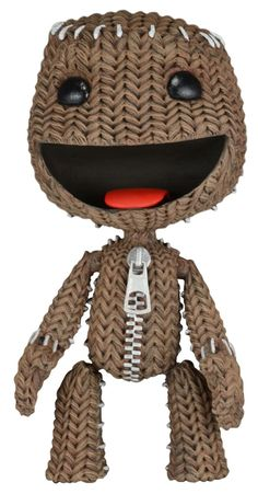 "Little Big Planet 7"" Scale Series 1 HAPPY Sackboy Action Figure by NECA"