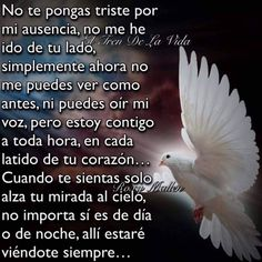 No me he ido Dad Poems, Grief Poems, Mother Poems, Father Quotes, Condolences Quotes, Condolence Messages, Mom In Heaven Quotes, Memorial Messages, Wisdom Quotes