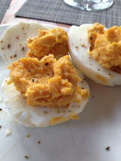 Deviled Egg fan but used roasted butternut squash with yokes instead of mayo! So good!