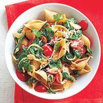 Spinach-Tomato Pasta Shells..I'm thinking this will be dinner tonight!
