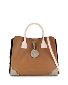 Jason Wu Jourdan Petite Leather Tote Bag, Birch