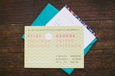 Cute invitations used for a wedding here at Whispering Pines!