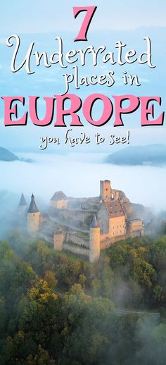 Traveling through Europe will mean that you'll encounter many amazing places along the way. But to tour Europe often means missing out on some beautiful places that people hardly talk about when traveling to Europe. Here are 7 top Europe destinations that often get forgotten about! #Europe #EuropeTravel #TravelToEurope #EuropeTrip #Vacation