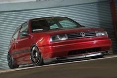 Candy red VW Golf MK3 - Jetta Front end-