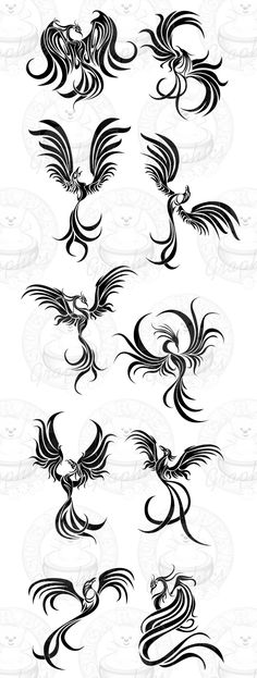 tribal phoenix designs