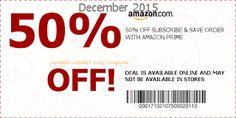 Printable Coupons: Amazon Coupons