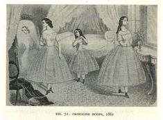 1862 - jeunes filles en crinolines