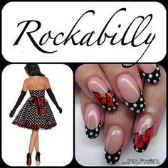 Rockabilly nail art