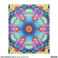 Axis Kaleidoscope Fleece Blanket. Wrap yourself in this exotic fleece and be transported to a psychedelic dreamland. Kinetic Collage kaleidoscope compositions are created from special effects video performance art screen capture images. Over 3000 products at my Zazzle online store. Open 24/7  World wide! Custom one-of-a-kind items shipped to your door.  http://www.zazzle.com/greg_lloyd_arts*?rf=238198296477835081 To see Kinetic Collage checkhttp://www.youtube.com/user/kineticcollage