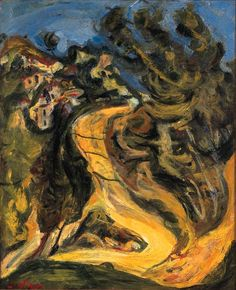 Artwork by Chaim Soutine, Paysage à la route montante