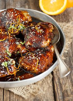 Sticky Sweet and Spicy Asian Chicken Thighs