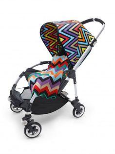 Missoni für unterwegs Haute Couture für den Kinderwagen! Für eine Bugaboo-Sonderedition hat das italienische Modehaus Missoni sein farbenfrohes Muster beigesteuert.