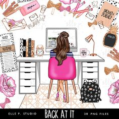 Farmasi Discover Back at It Clipart Bundle /Planner Clipart Bundle Files total! Only ONE Basic or Large License needed -Pls read below for details Boss Babe, Girl Boss, Megan Hess, Back To School Clipart, Farmasi Cosmetics, Illustration Mode, Illustrations, Cupcake Illustration, Digital Illustration