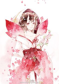# # Shady yin teacher # # Peach blossom peach blossom ~ illustrator to be watercolor colleagues Manga Art, Anime Art, Chinese Drawings, Natsume Yuujinchou, L5r, China Art, Fantasy Costumes, Human Art, Beautiful Anime Girl