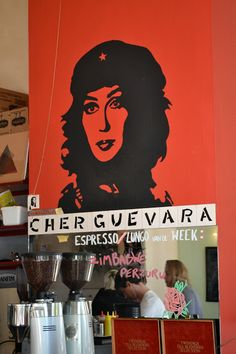 Cher Guevara in Caffènation #Antwerp | photo: Lisa Hjalt. - I am gagging on how much I love this.
