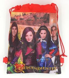 9380911cda9 6Pcs Descendants Drawstring Backpacks Party Bags Birthday Gifts