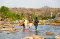 @Robin S. S. S. S. Pope Safaris in Malawi - crossing the  Mkulumadzi River