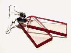 #Plexiglass, #earrings, #simple, #minimal