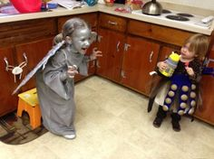 Adorable: Dalek and Weeping Angel Kids' Cosplay When we have kids this WILL happen!
