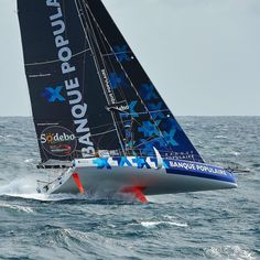 Vendee16 Armel Le Cleach leading