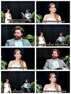 haha zach galifianakis interviews jennifer lawrence
