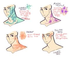 Anonymous said: what do u think spell scars would look like? like magic missile or firebolt or eldritch blast? Answer: i feel like with certain spells with more raw magic, casters will leave marks the. Drawing Techniques, Drawing Tutorials, Drawing Tips, Art Tutorials, Magic Drawing, Drawing Reference Poses, Design Reference, Character Concept, Character Art