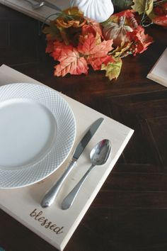 DIY Wood Placemats -