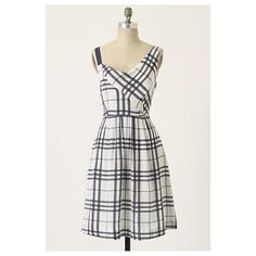 """Anthropologie Know The Ropes Dress NWOT Prove your style savvy in Moulinette Soeurs' asymmetrically aligned chiffon A-line, gridded in knotted coils.  Side zip  Silk; acetate lining  Dry clean  38.5""""L  Imported Anthropologie Dresses"""