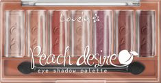 Lovely, Peach Desire, paleta cieni do powiek, 6 g, nr kat. 276355