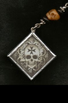 Rosary for the Dead with Maltese Skull pendant by ShayneoftheDead, $55.00