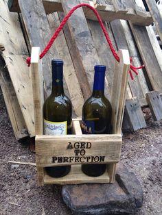 gepersonaliseerde wijn caddy hout wijn vervoerder wijn tote