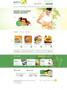 Ecommerce design for Diet Food/Fitnes Recipes Meals