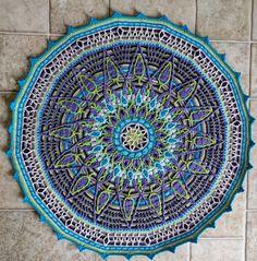 Overlay crochet - my interpretation of Mandala No. 7 by CAROcreated. Pattern purchased on Etsy.