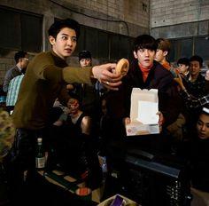 Btob Ilhoon, Tvxq Changmin, Leeteuk, Exo Chanbaek, Kim Minseok, Park Chanyeol, Baekhyun, Nu'est Jr, Monsta X Jooheon