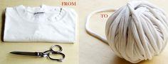 Da #tshirt a #gomitolo: trasformare per dare nuove forme   #riciclocreativo #comefare #tutorial #italiano #maglietta