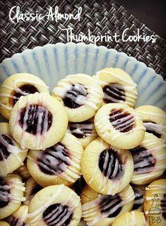 Classic Almond Thumbprint Cookies