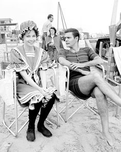 Louis Jourdan and Leslie Caron on the set of Gigi (1958)...Uploaded By www.1stand2ndtimearound.etsy.com