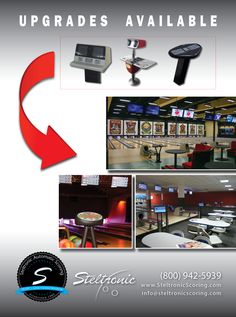 Upgrades available at http://steltronicscoring.com. With over 19,000 + lanes installed worldwide, and 36 years in the bowling business, you'll be very impressed. :)