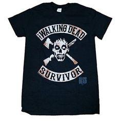 Walking Dead Survivor Men's Graphic Tee, Black