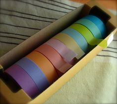 I have no idea what I would do with a box of pretty masking tapes but that doesn't stop me from wanting it.